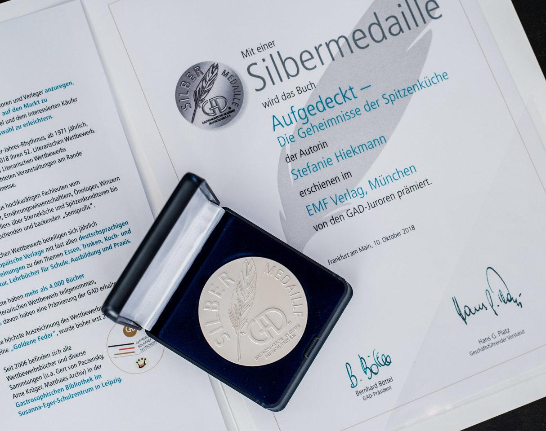 Silbermedaille GAD Aufgedeckt Spitzenküche